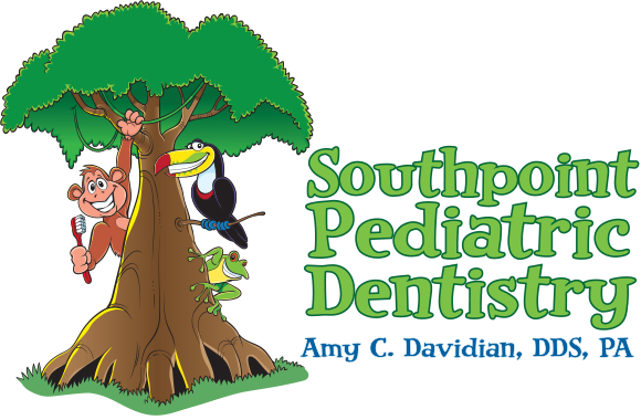 Mobile logo for Pediatric dentist Dr. Amy C. Davidian in Durham, NC