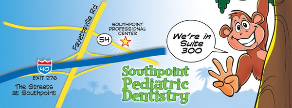 Map for Dr. Amy C. Davidian a pediatric dentist in Durham, NC